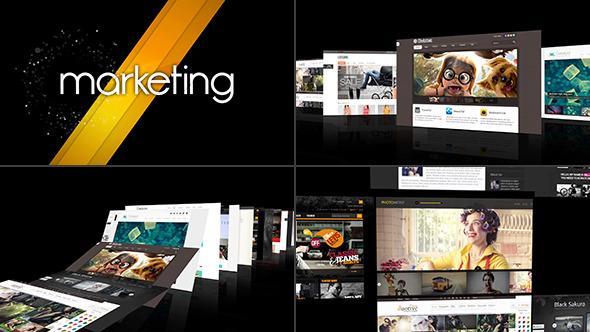 AE模板:优雅设计 公司企业宣传 网站推广展示 演示卷轴幻灯片模板Modern Intro/Demo Reel  免费下载