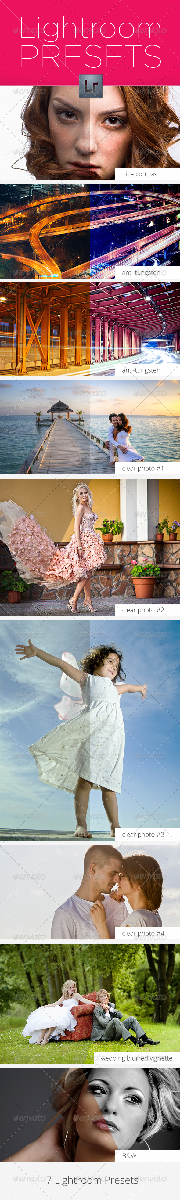 GraphicRiver 7 Lightroom Presets for Better Photos 4852548