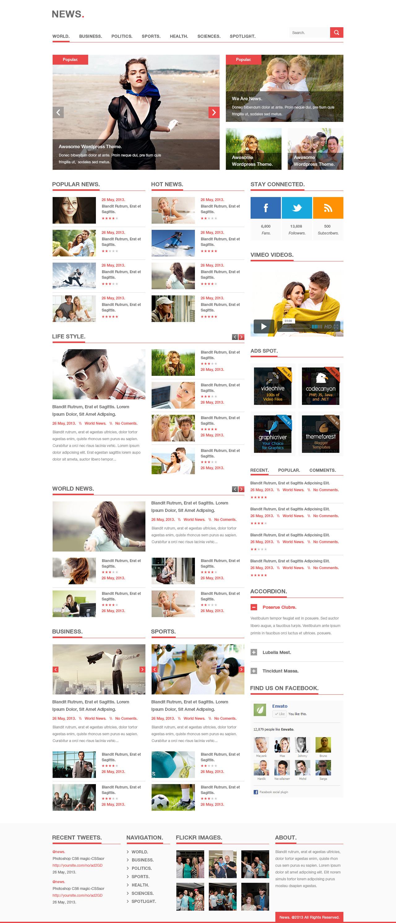 News WordPress theme