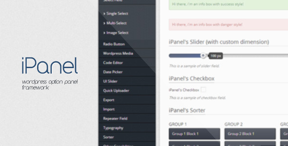 iPanel - Wordpress Options Panel Framework - WorldWideScripts.net Element til salgs
