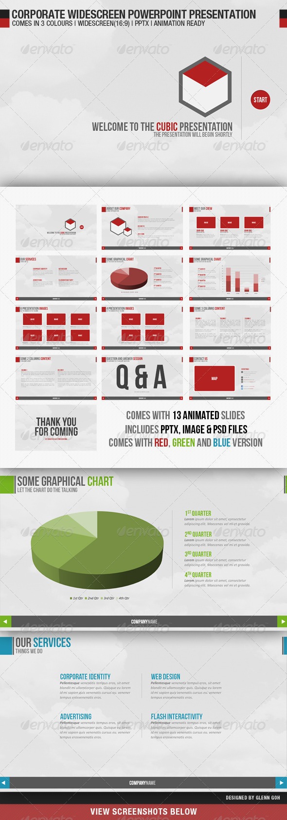 Corporate Widescreen Powerpoint Presentation - Creative Powerpoint Templates