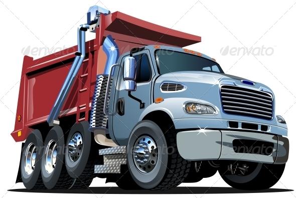 GraphicRiver Vector Cartoon Dump Truck 5007506