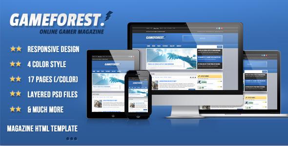 ThemeForest GameForest Online Magazine HTML Template 5007730