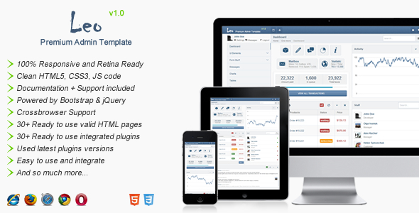 ThemeForest Leo Premium Admin Template 5007906