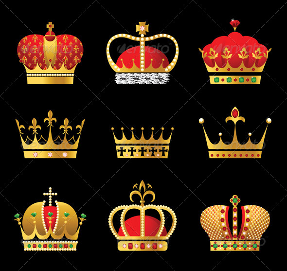 GraphicRiver Crowns Set 5008269