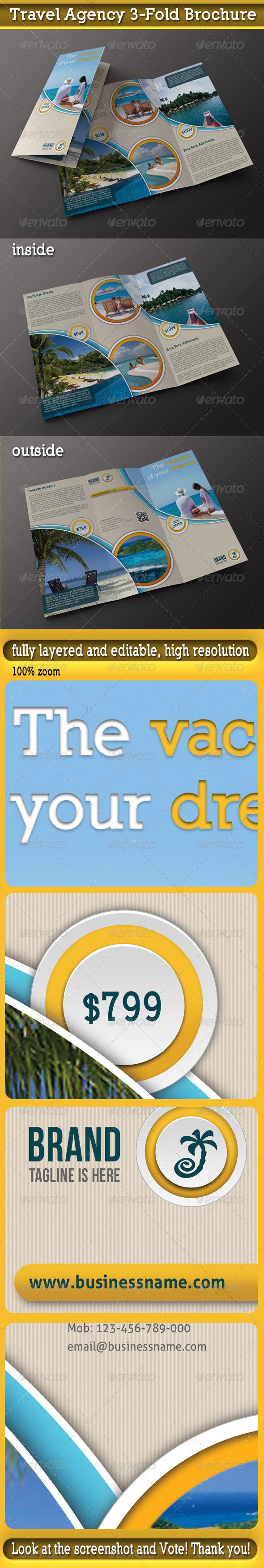 Travel Agency 3-Fold Brochure - Corporate Brochures