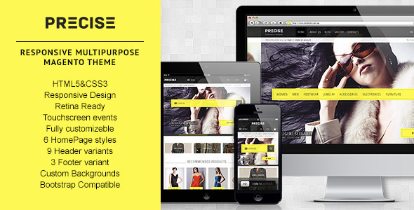 00 preview.  large preview Precise | Multipurpose Responsive Magento Theme