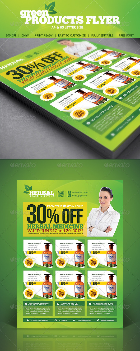 GraphicRiver Green Product Flyer 5009005