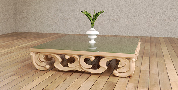 SCULPTED TABLE  - 3DOcean Item for Sale