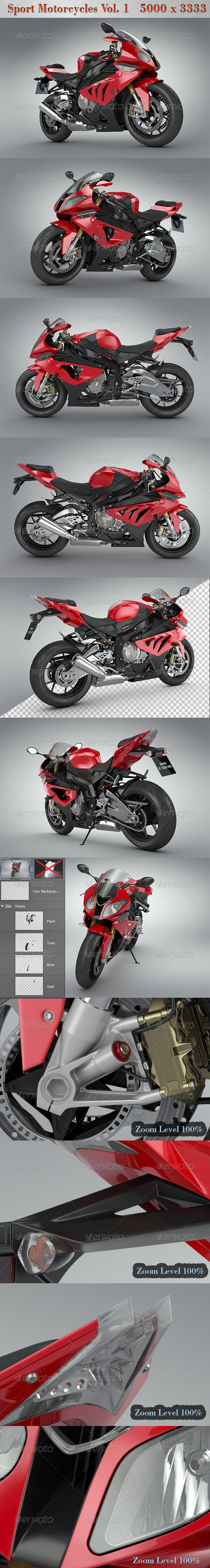 GraphicRiver Sport Motorcycles Vol.1 5009680