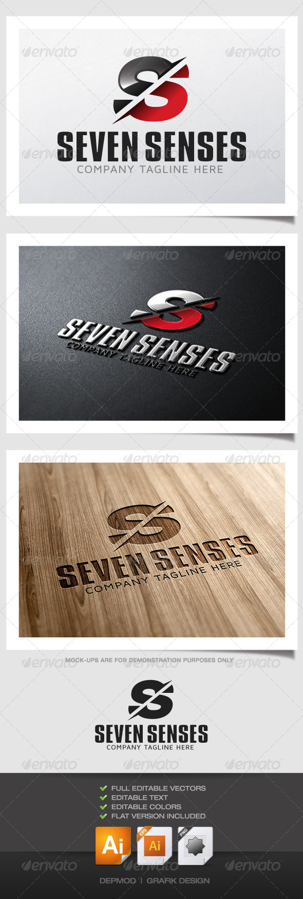 Seven Senses Logo - Letters Logo Templates