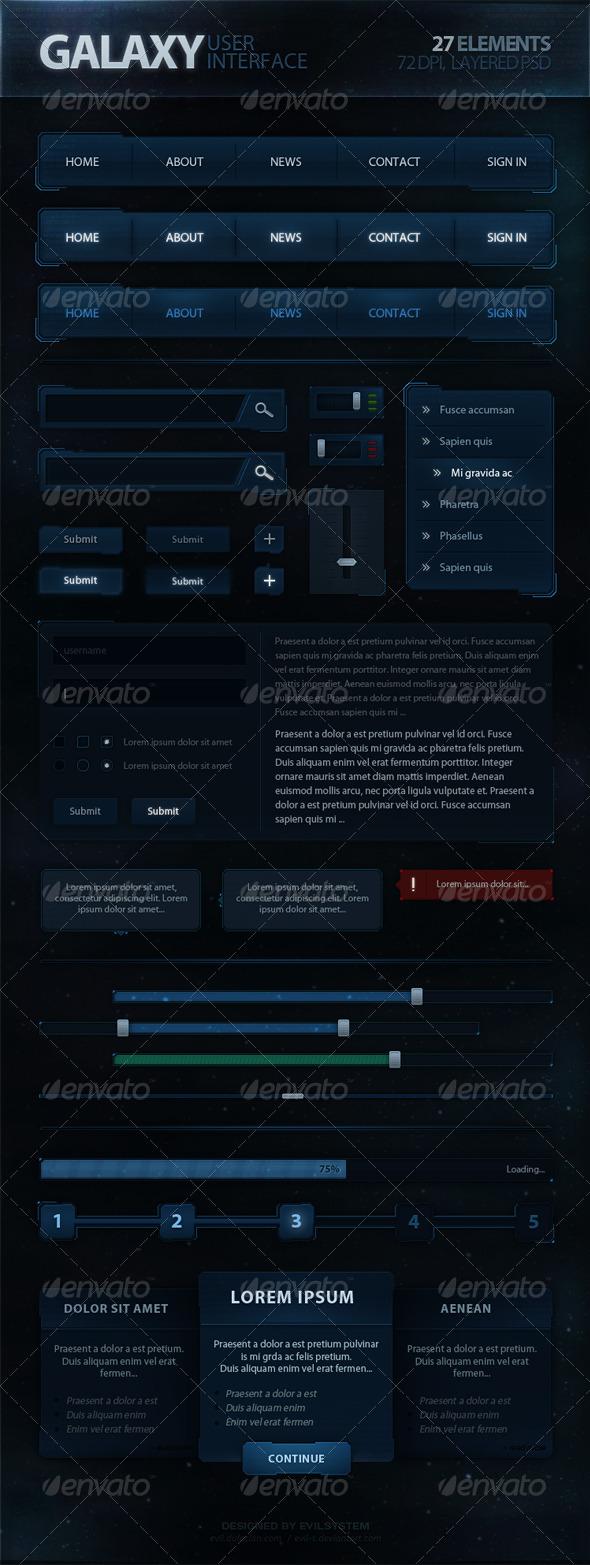 GraphicRiver Galaxy User Interface 4987715