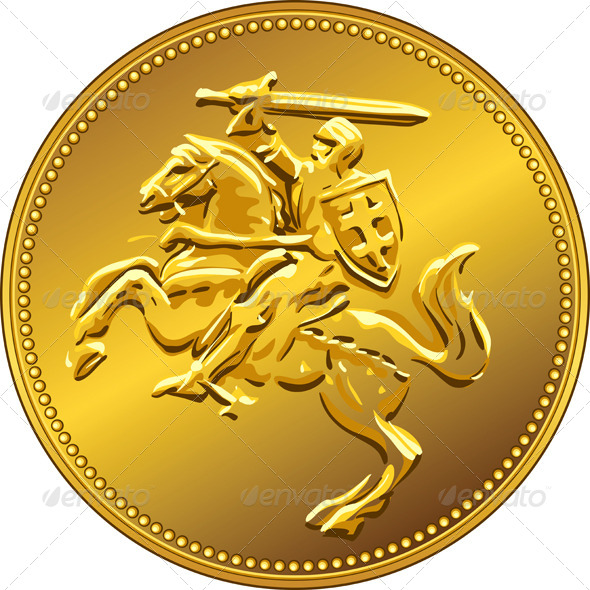 GraphicRiver Gold Money Coin with Knight 5009895