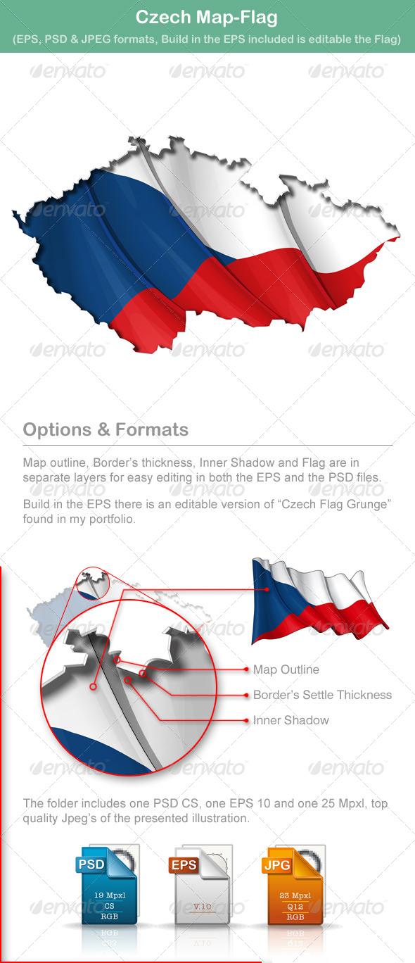 Czech Map-Flag