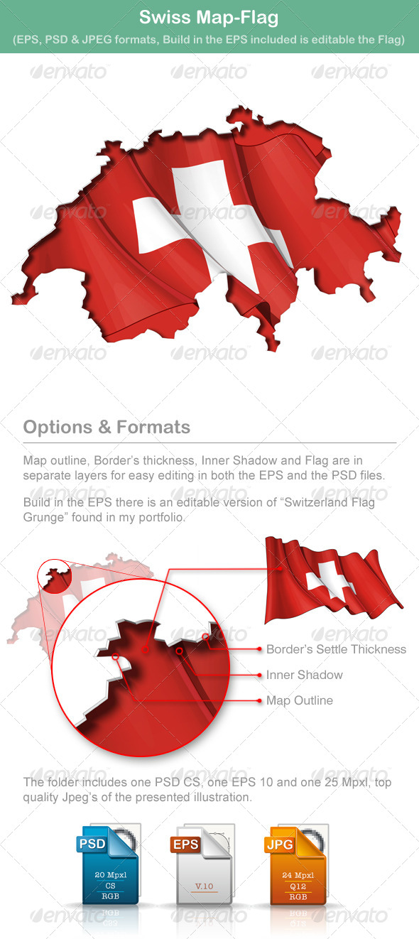 GraphicRiver Swiss Map-Flag 5010138
