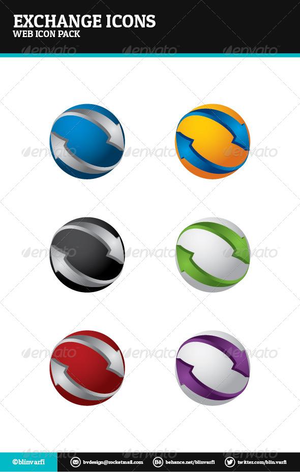 Exchange Icons - Web Icons