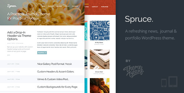 ThemeForest Spruce A Refreshing Journal & Portfolio Theme 5010328