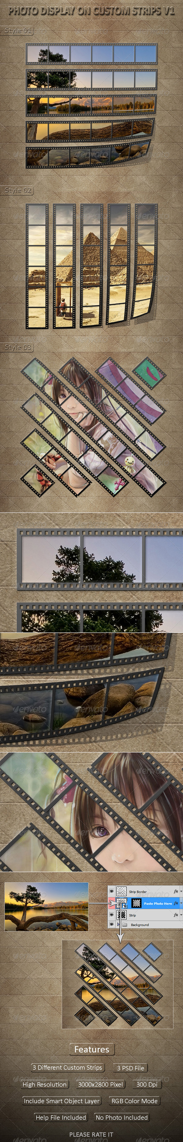 Photo Display on Custom Strips V1