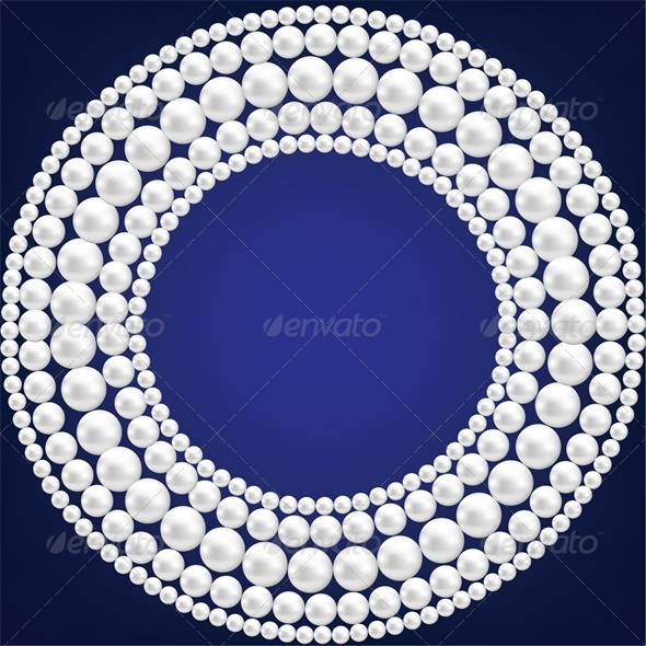 GraphicRiver Dark Blue Background with Pearl Necklace 5010652