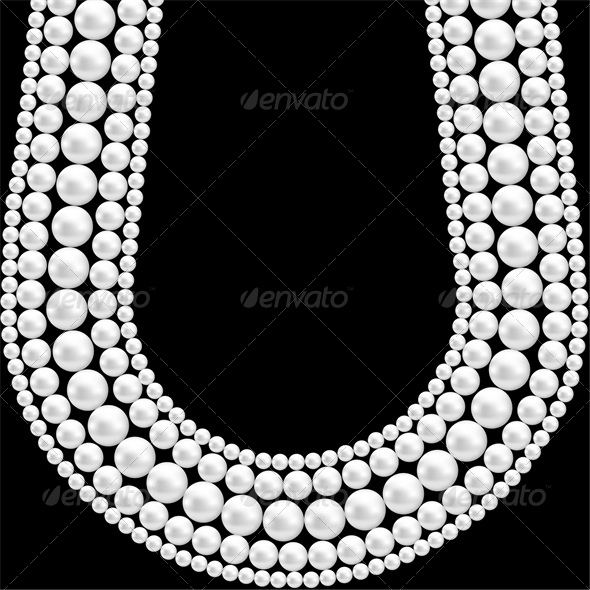 GraphicRiver Black Background with Pearl Necklace 5010655