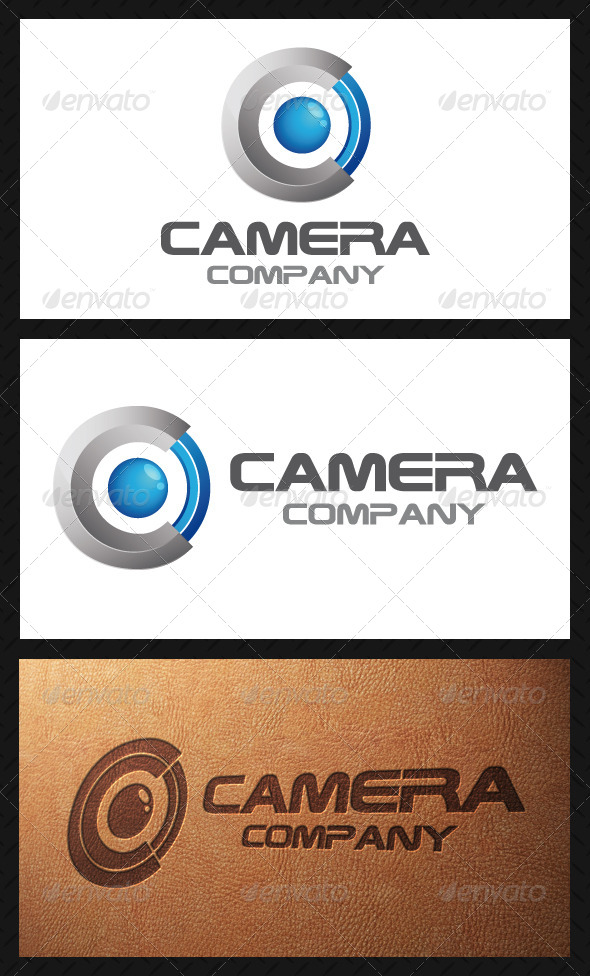 Camera Lens Logo Template - 3d Abstract