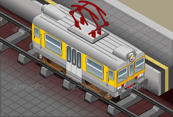 GraphicRiver Isometric Electric Train 5010750