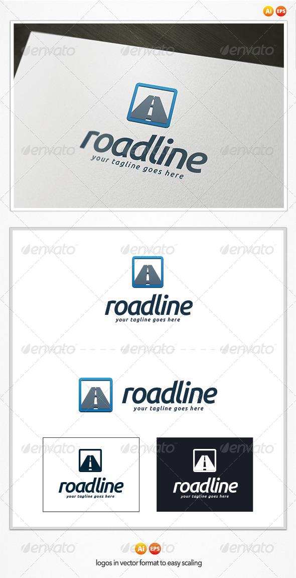 GraphicRiver Road Line Logo Template 5011076
