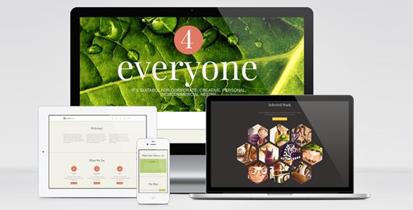 4Everyone - One Page Retina HTML Template
