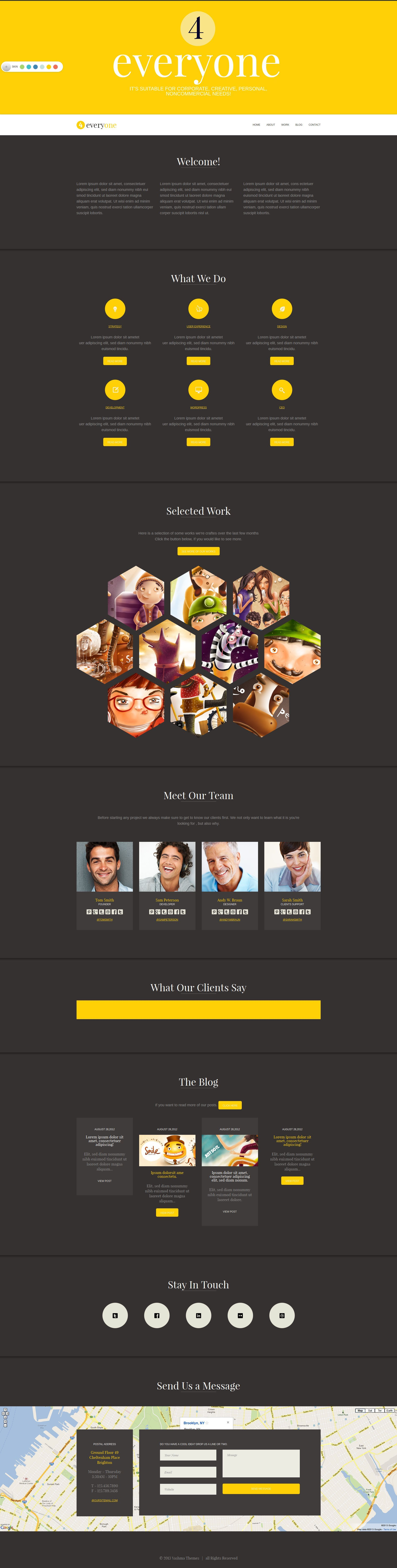 4Everyone - One Page Retina HTML Template