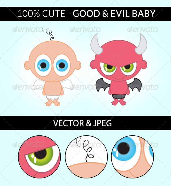 GraphicRiver Good and Evil Baby 4994127