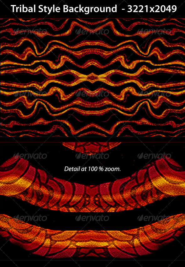 GraphicRiver Tribal Style Background Pattern 5011300