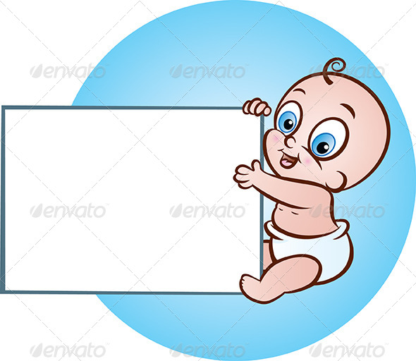GraphicRiver Baby with Banner 5011487