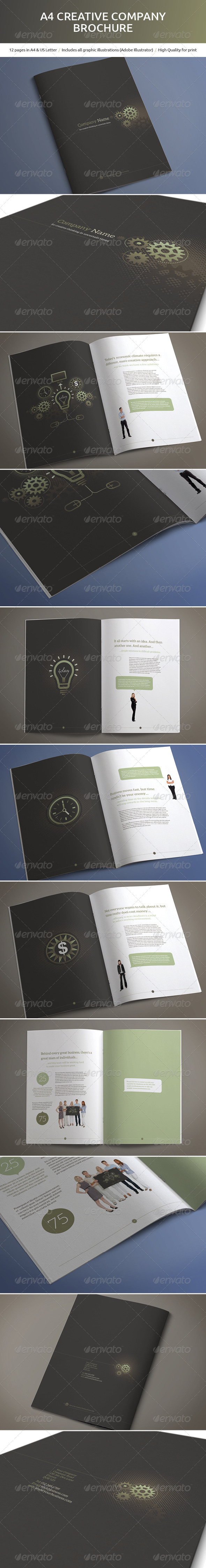 GraphicRiver A4 Creative Company Brochure 5011643
