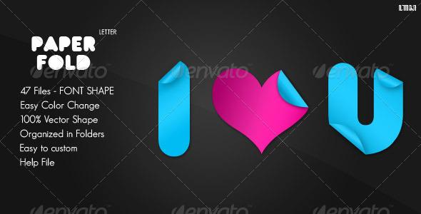 GraphicRiver Paper Fold Letter Custom Shape 479663