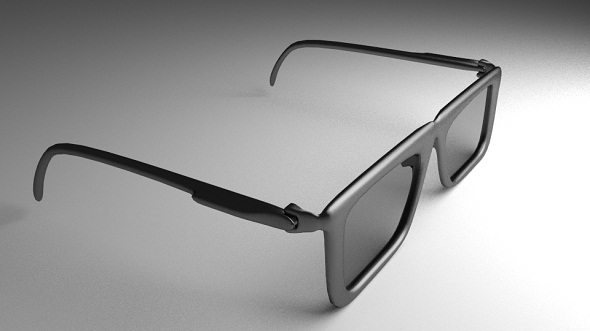 Eye Glasses Version 1 High-Poly