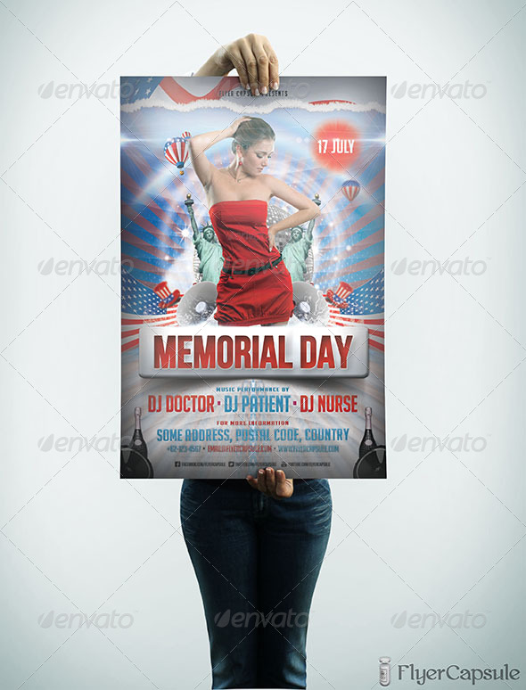 GraphicRiver Memorial Day Flyer Template 4902751