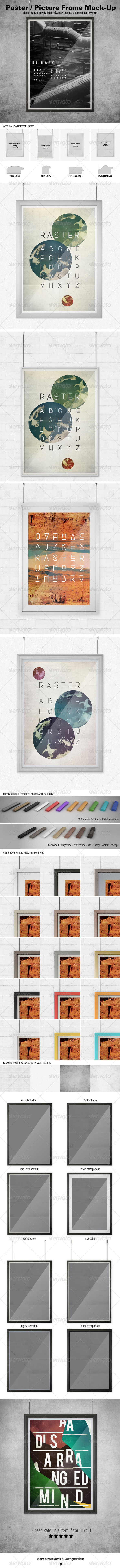 GraphicRiver Poster Picture Frame Mock-ups 5012419