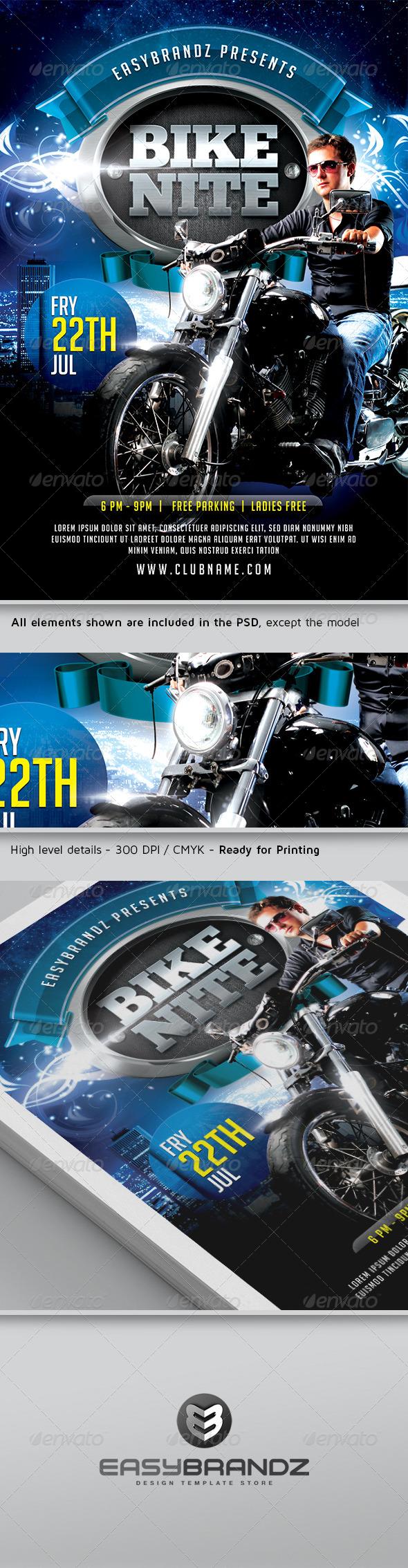 GraphicRiver Bike Nite Flyer Template 5012425
