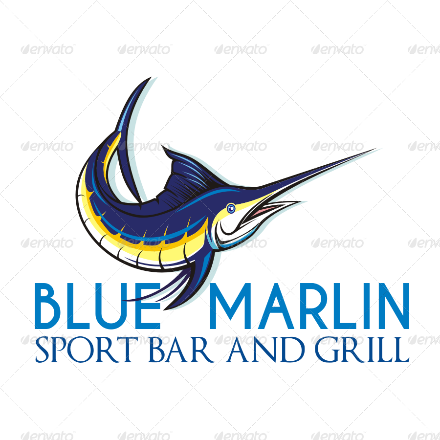 blue marlin 2 logo templates by seviart graphicriver