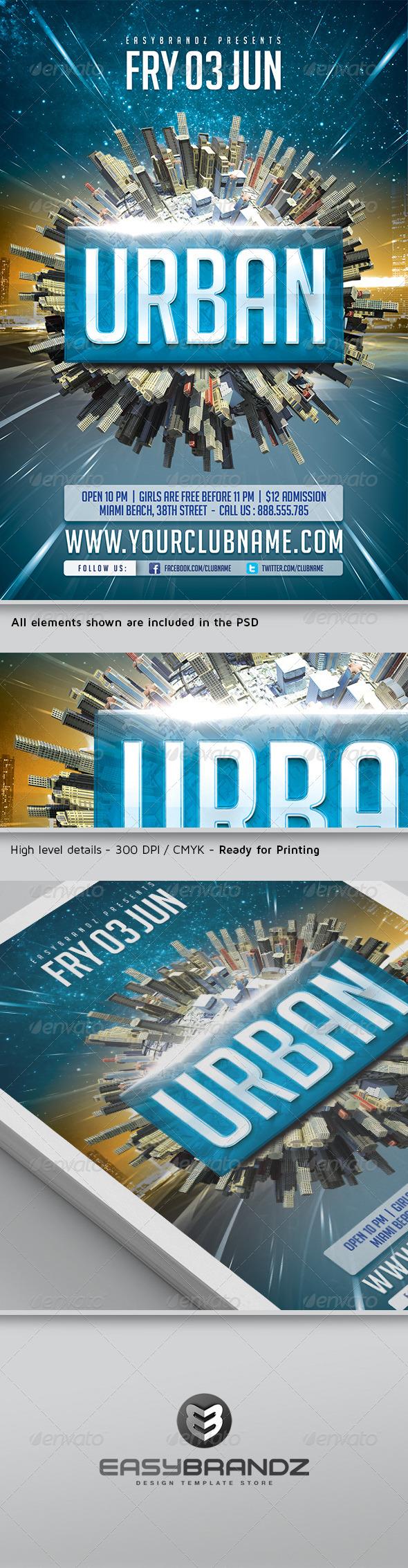 GraphicRiver Urban Flyer Template 5012430