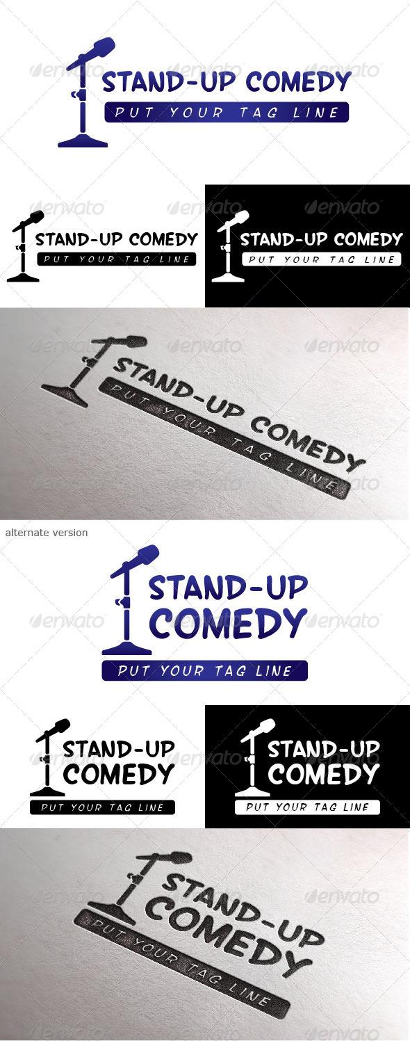 GraphicRiver Standup Comedy Logo 4987595