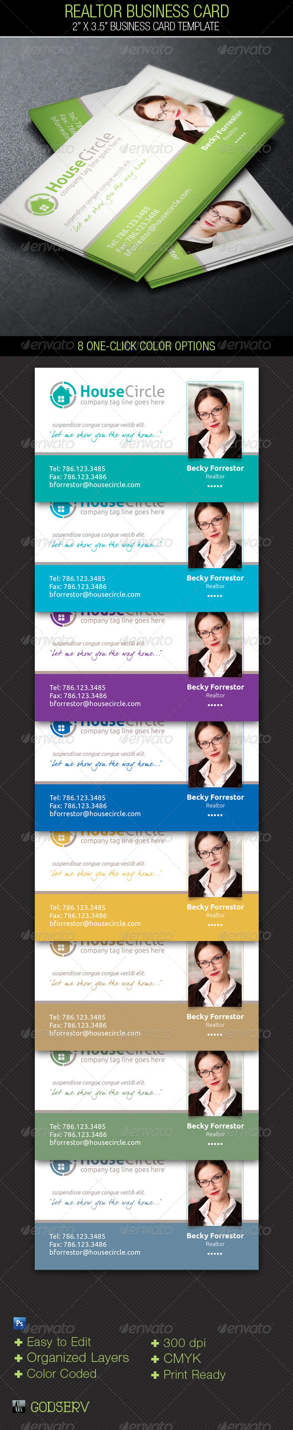 GraphicRiver Realtor Business Card Template 4964038