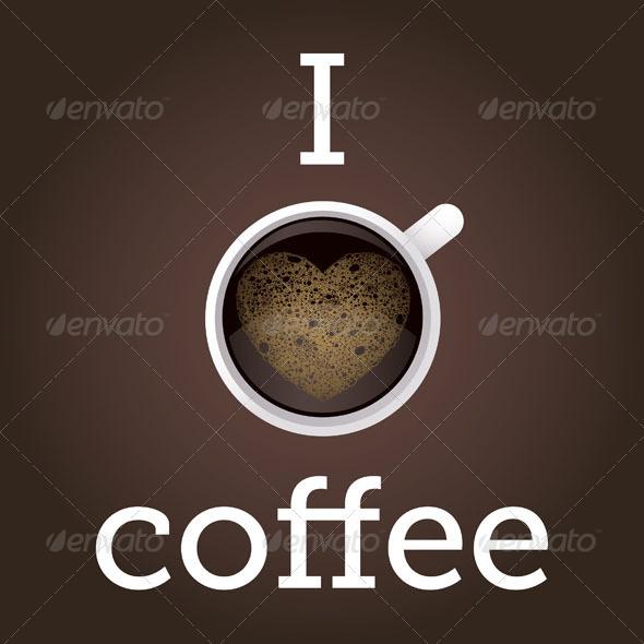 GraphicRiver I Love Coffee Poster 5013130