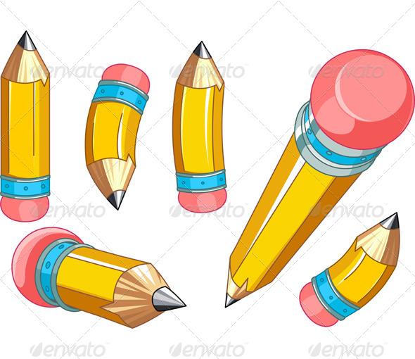 GraphicRiver Pencils Set 5013131