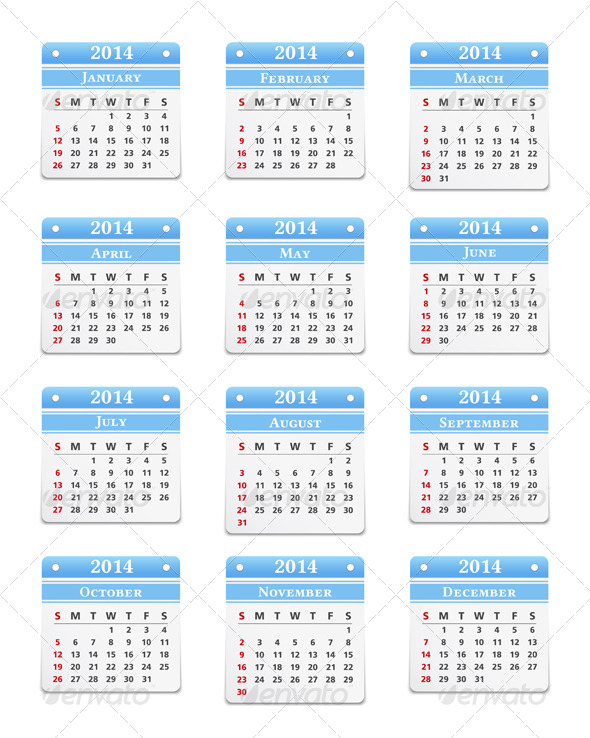 GraphicRiver 2014 Calendar 5013134
