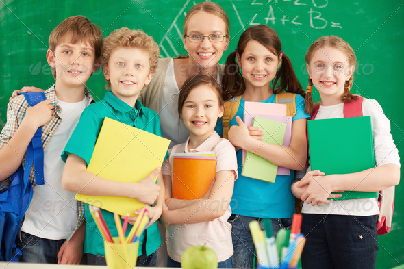 Teacher and learners - Stock Photo - Images