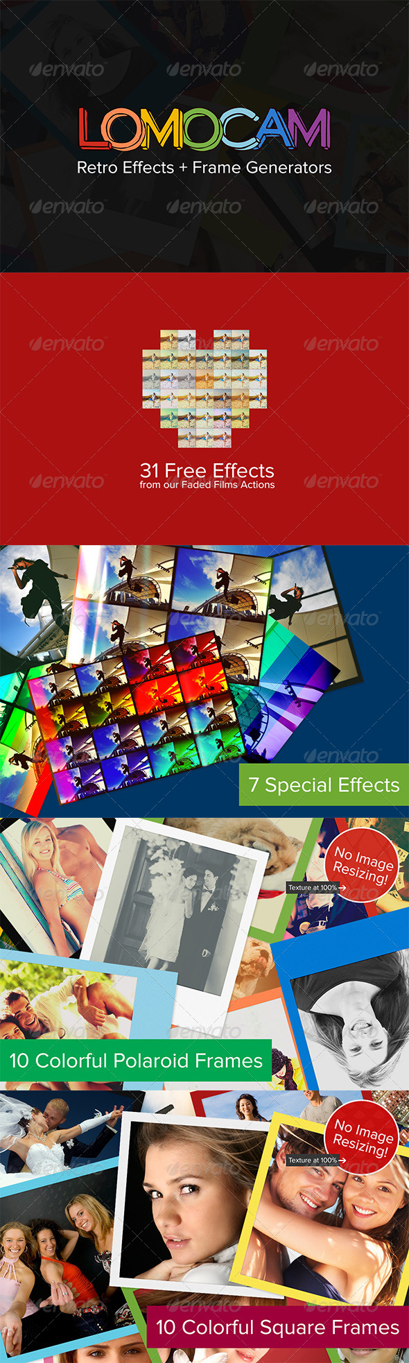 Lomocam - Retro Effects & Frames - Photo Effects Actions