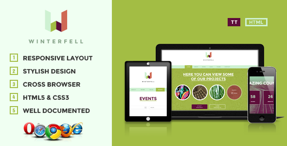 Winterfell - Creative HTML Theme - Creative Site Templates