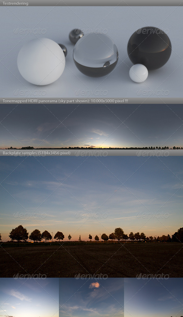 HDRI spherical sky panorama -1916- sommer dusk - 3DOcean Item for Sale