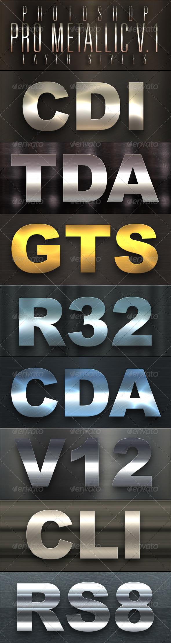 GraphicRiver Pro Metallic Styles V.1 5015188